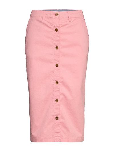 D1. Hw Chino Skirt Knielanges Kleid Pink GANT