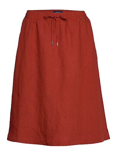D2. Summer Linen Skirt Knielanges Kleid Rot GANT | GANT SALE