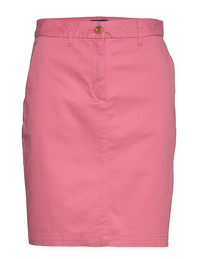 D1. Classic Chino Skirt Knielanges Kleid Pink GANT