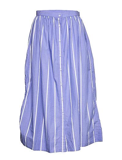 D2. Striped Shirt Skirt Knielanges Kleid Blau GANT