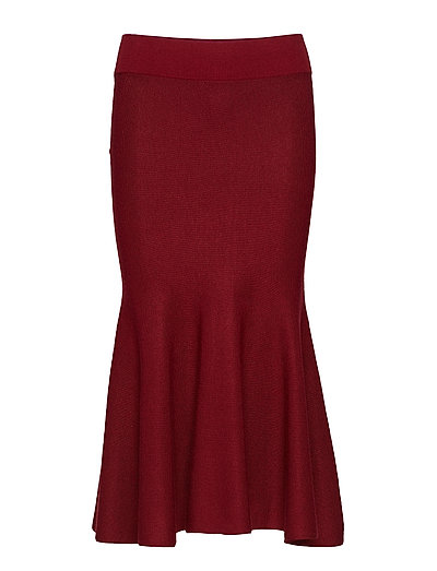 O2. FLARED MERINOBLEND SKIRT - WINTER WINE