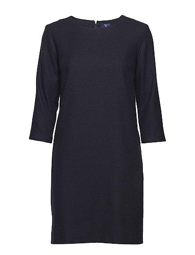 O1.Washable Flannel Dress Kleid Knielang Blau GANT