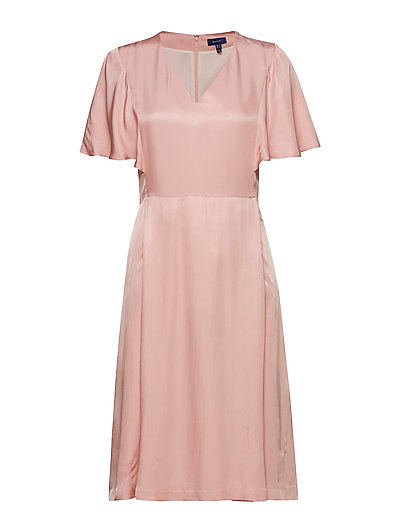 O2. Summer Party Dress Kleid Knielang Pink GANT