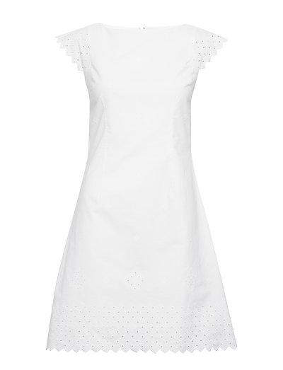 D2. Broderie Anglaise Dress Kurzes Kleid Weiß GANT