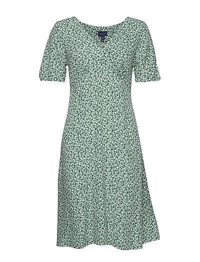 D2. Summer Floral Dress Kleid Knielang Grün GANT