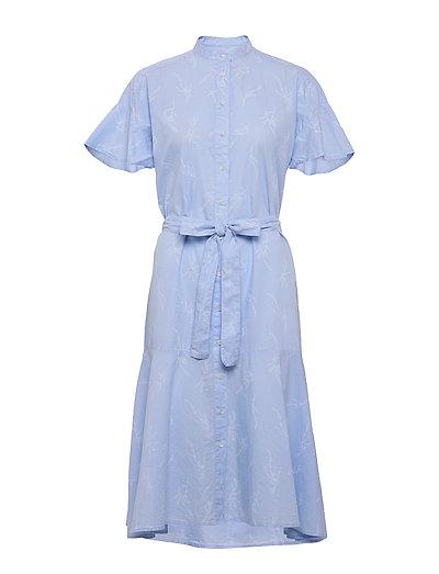 D2. Pure Prep Printed Dress Kleid Knielang Blau GANT