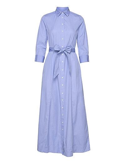 D2. Maxi Shirt Dress Kleid Knielang Blau GANT