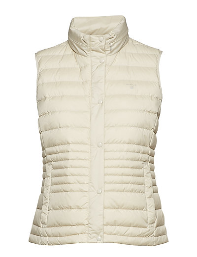 O1. LIGHT DOWN VEST - PUTTY