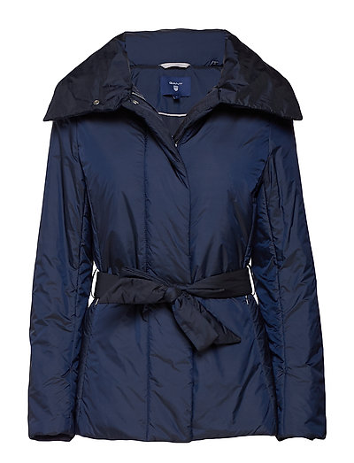 O1. PADDED BELTED JACKET - EVENING BLUE