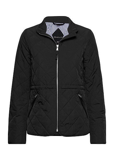 D1. Quilted Fitted Jacket Steppjacke Schwarz GANT