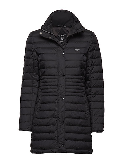 O1. LIGHT DOWN COAT - BLACK