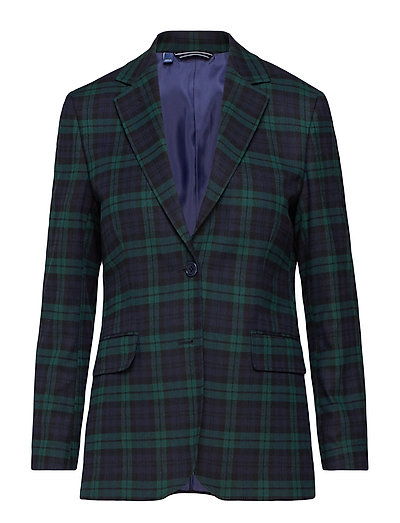 O1.WASHABLE BLACK WATCH BLAZER - PONDEROSA PINE