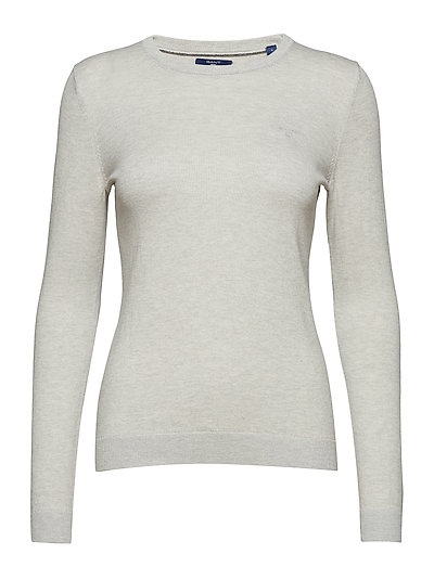 COTTON WOOL CREW - LIGHT GREY MELANGE