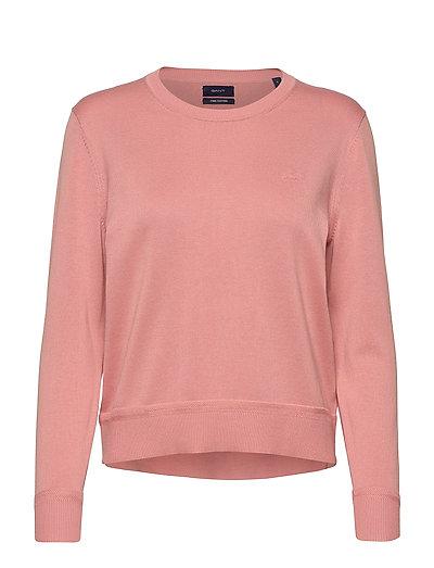 Light Cotton C-Neck Strickpullover Pink GANT