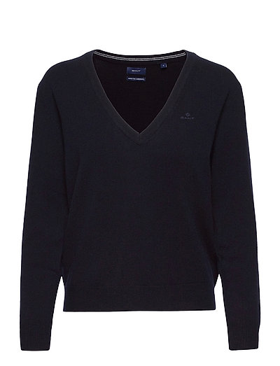 Superfine Lambswool V-Neck Strickpullover Blau GANT | GANT SALE