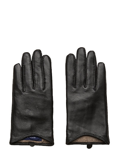 D1. Leather Gloves Handschuhe Schwarz GANT
