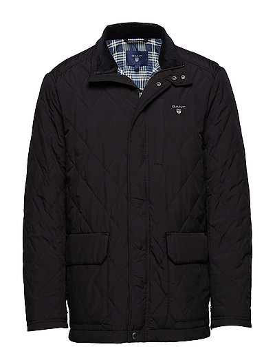 O1. THE QUILTED CITY JACKET - BLACK GREY