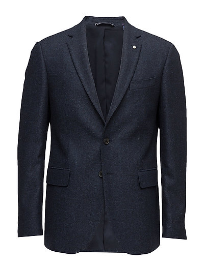 O1. THE HERRINGBONE BLAZER T - MARINE