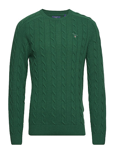 O3. LAMBSWOOL CABLE CREW - IVY GREEN