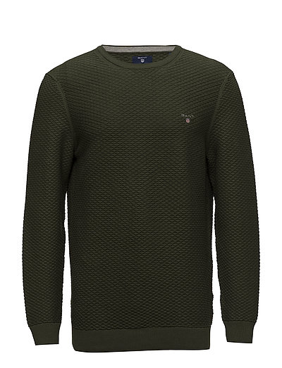 O1. TRIANGLE TEXTURE CREW - MOSS GREEN