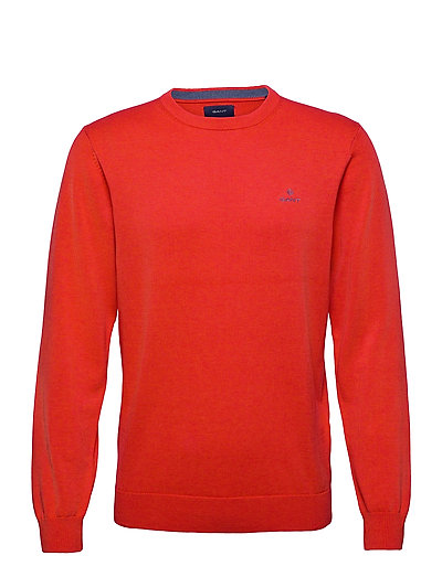 Classic Cotton C-Neck Strickpullover Rundhals Orange GANT | GANT SALE