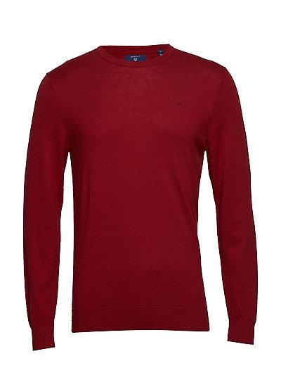 D1. Cotton Cashmere C-Neck Strickpullover Rundhals Rot GANT