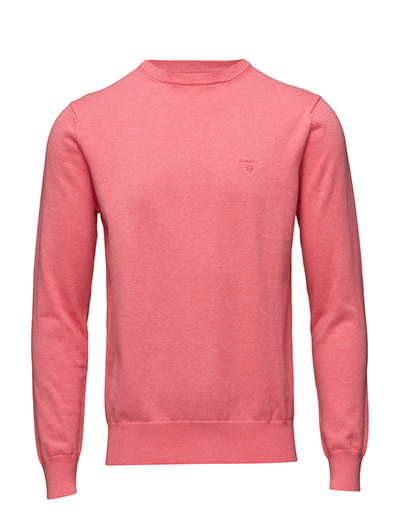 LT. WEIGHT COTTON CREW - BRIGHT CORAL MEL