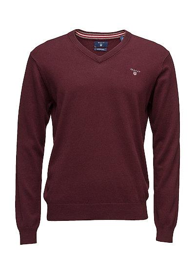 Cotton Wool V-Neck Strickpullover V-Ausschnitt Rot GANT
