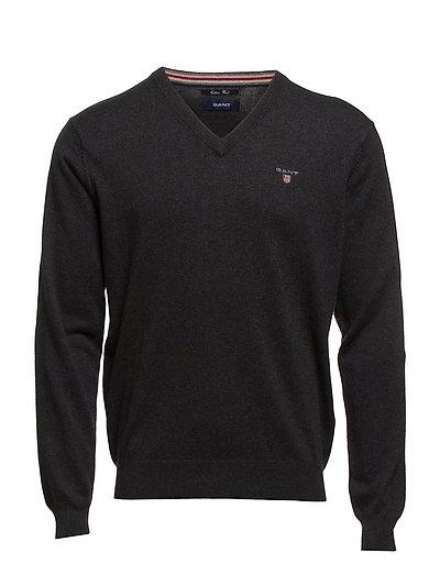 Cotton Wool V-Neck Strickpullover V-Ausschnitt Schwarz GANT