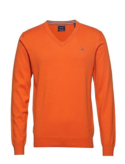 Cotton Wool V-Neck Strickpullover V-Ausschnitt Orange GANT