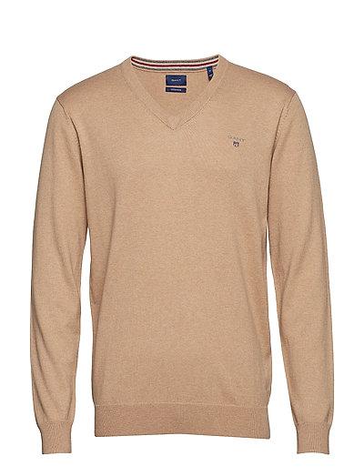 Cotton Wool V-Neck Strickpullover V-Ausschnitt Beige GANT