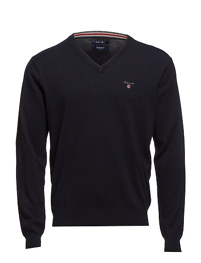 Cotton Wool V-Neck Strickpullover V-Ausschnitt Blau GANT