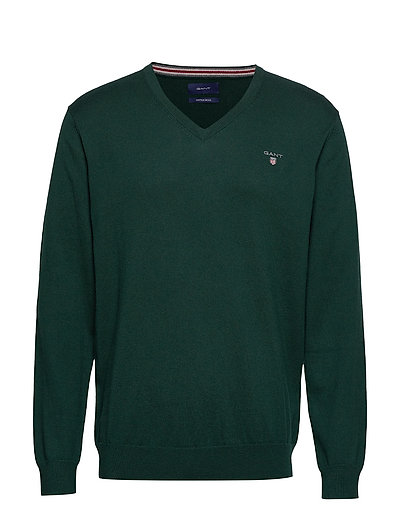 Cotton Wool V-Neck Strickpullover V-Ausschnitt Grün GANT