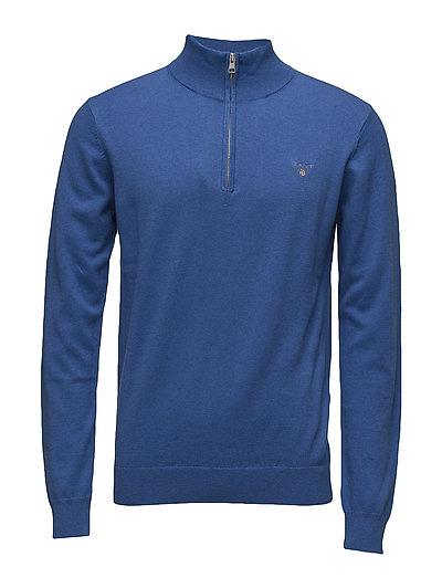 Cotton Wool Half Zip Knitwear Half Zip Jumpers Blau GANT