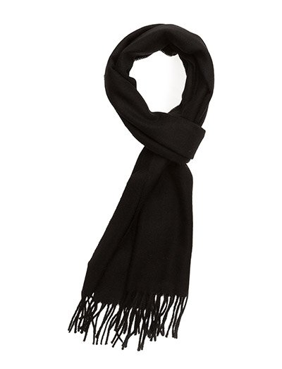 SOLID LAMBSWOOL SCARF - BLACK