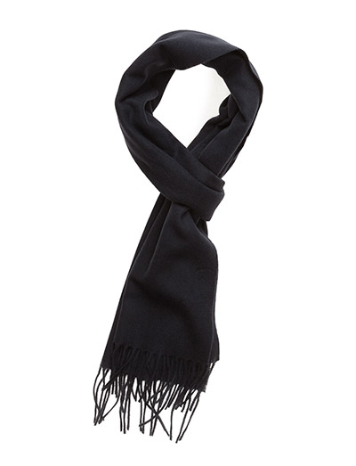 SOLID LAMBSWOOL SCARF - NAVY