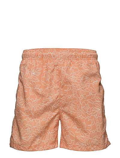 FULL BLOOM OUTLINE SWIM SHORTS C.F. - PAPAYA ORANGE