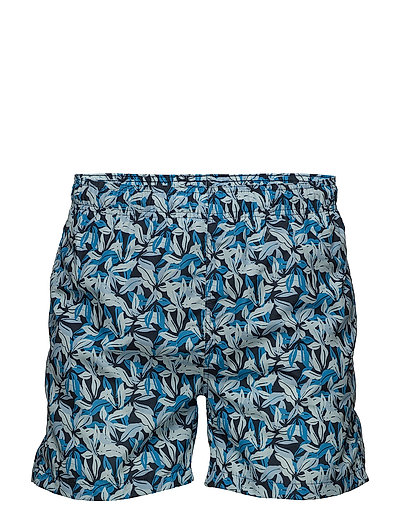 AIRY LEAF SWIM SHORTS C.F. - NAVY