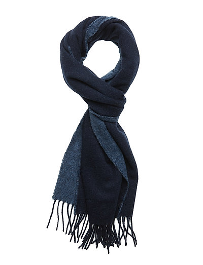O1. TWO-FACE WOVEN SCARF - MARINE