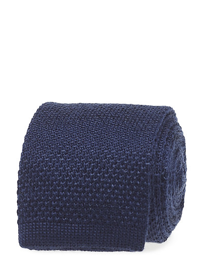 D1. SOLID KNITTED TIE - MARINE