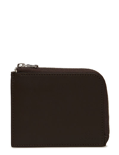LEATHER ZIP WALLET - BLACK COFFEE