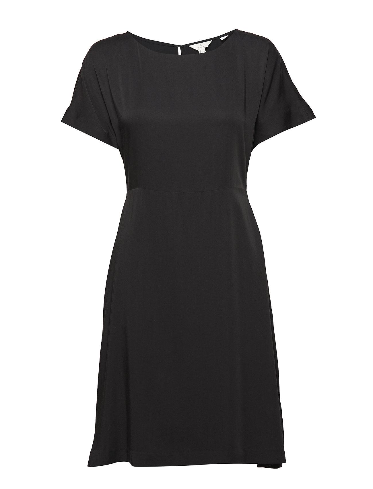 GANT G3. SILKY DRESS - BLACK