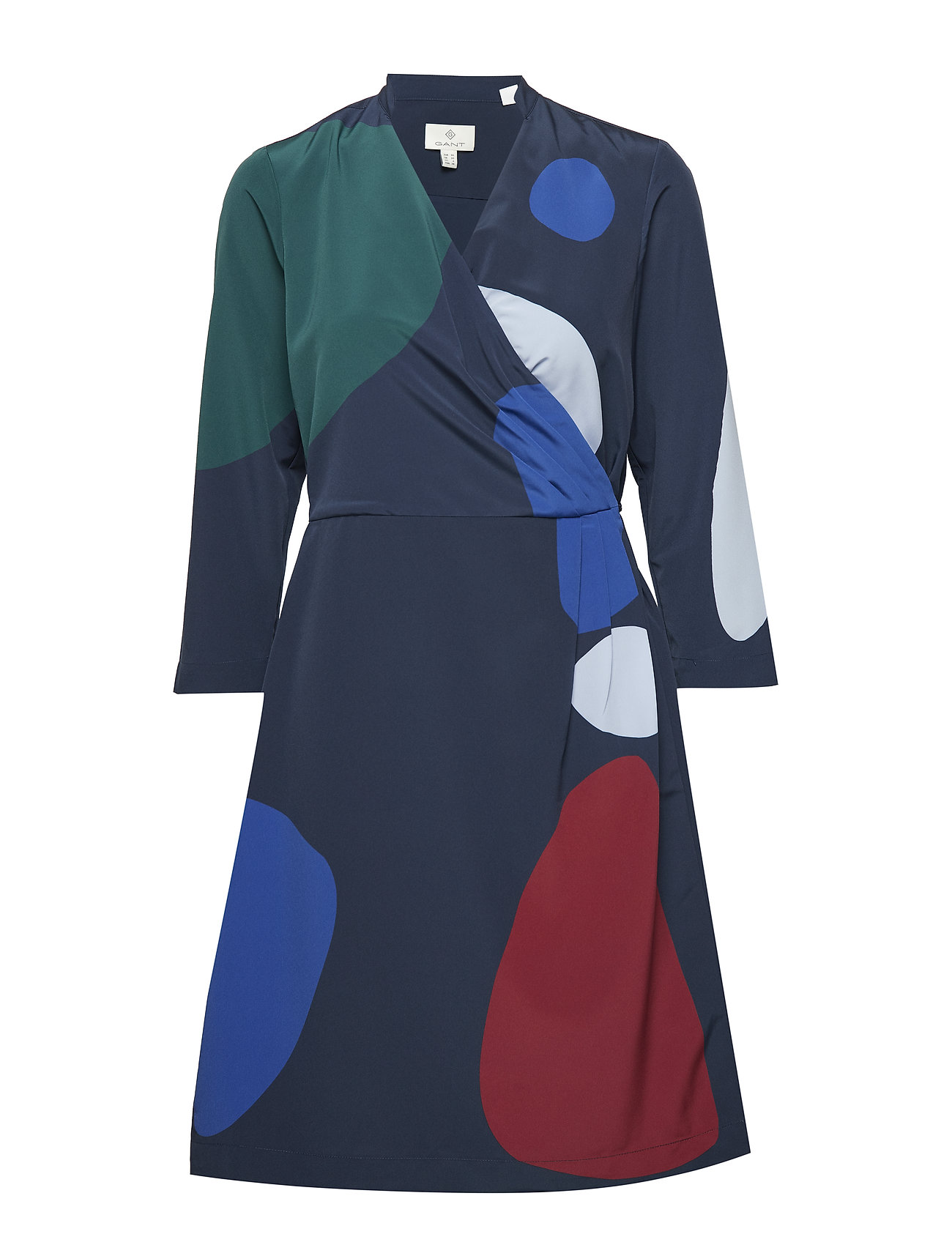 GANT G1. MOBILIZE WRAP DRESS - MARINE