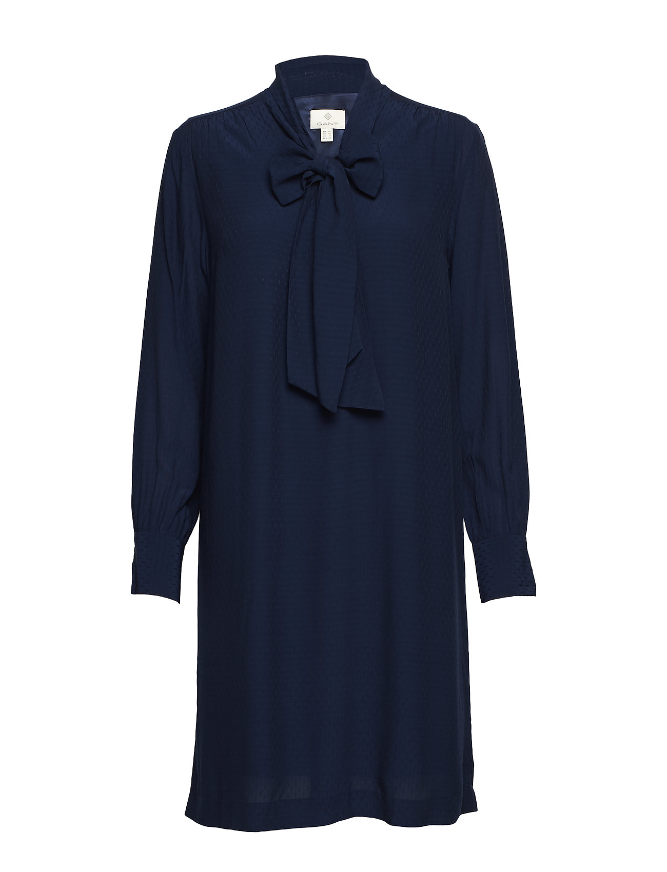 GANT G3. DOBBY BOW DRESS - MARINE