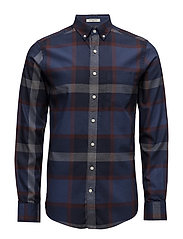 G2. COTTON CASHMERE CHECK SLIM BD - PERSIAN BLUE