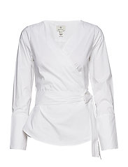 G1. TP WRAP BLOUSE - WHITE