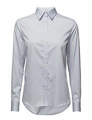 G1. FINE SATIN WEAVE SHIRT - HAMPTONS BLUE