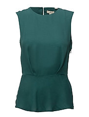 G1. PEPLUM TOP - BAYBERRY GREEN