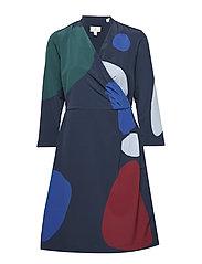 G1. MOBILIZE WRAP DRESS - MARINE