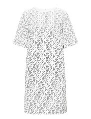 G1. PRINTED DRESS - EGGSHELL